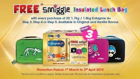 Enfagrow A+ FREE* Smiggle Insulated Lunch Bag