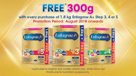 Enfagrow A+ FREE* 300g Promo