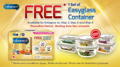 Enfagrow A+ FREE 1 set of Glass Container