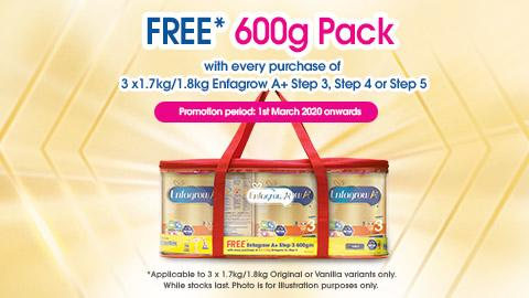 FREE* 600g Pack