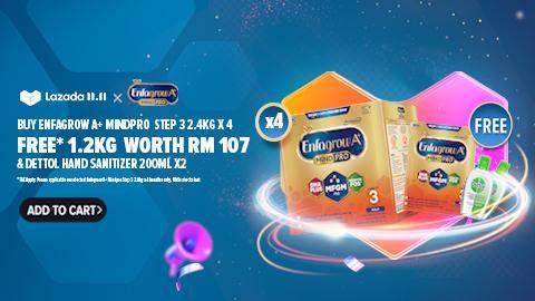 Free* 1.2kg & Dettol Hand Sanitizer X 2