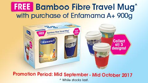 Enfamama A+ FREE Bamboo Fibre Travel Mug^