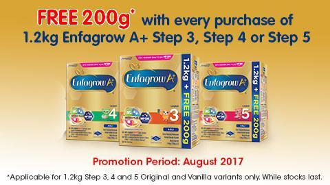 Enfagrow A+ 1.2kg Free 200g* Promotion
