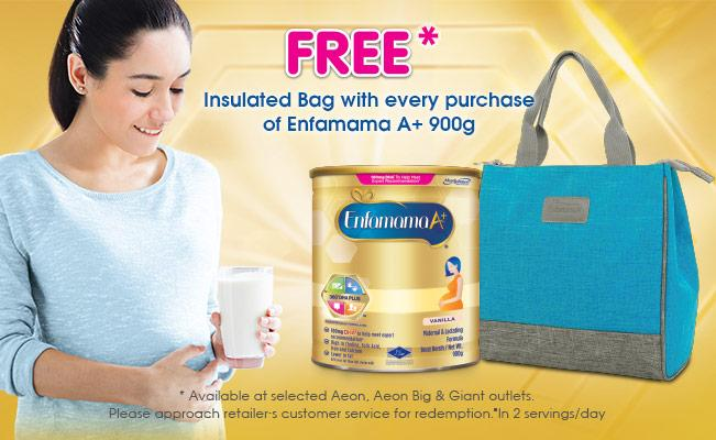 FREE Insulated Bag with every purchase of Enfamama A+ 900g