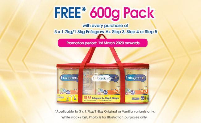 FREE* 600g Pack