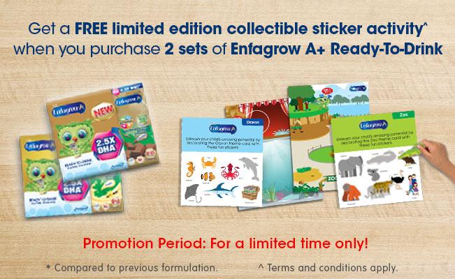 Enfagrow A+ Ready-To-Drink FREE limited edition sticker activity^