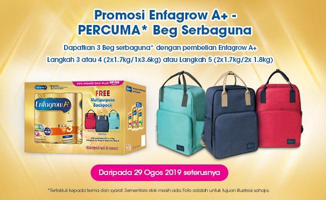 Promosi Enfagrow A+ - PERCUMA* Beg  Serbaguna